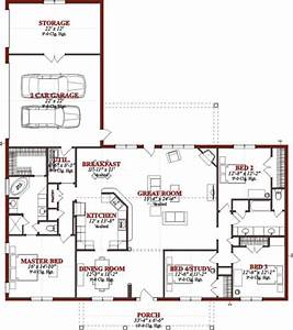 Bedroom Plan Floor Plans Ranch Collection Split House ...