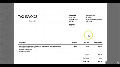 bank account details  xero invoice tips