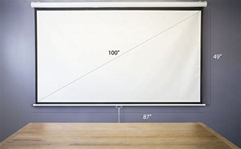 "VIVO 100"" Projector Screen, 100 inch Diagonal 16:9"