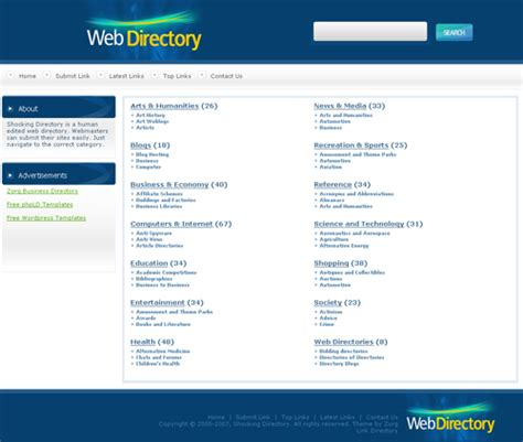 directory template php link directory template archive list of templates for version3 1