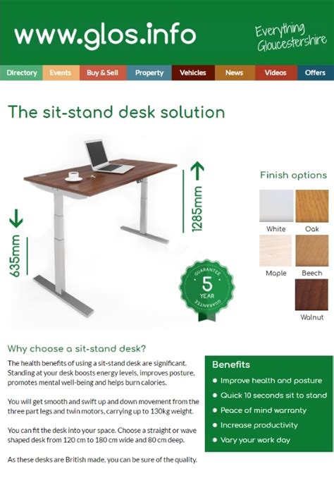 used sit stand desk for sale sit stand desks full range for sale with video