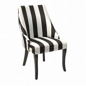 Black and White Stripe Chair available at www country