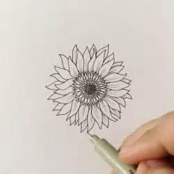 Watercolor Sunflower Drawings