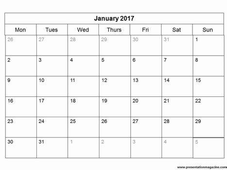 free calendar template 2017 free 2017 monthly calendar powerpoint template