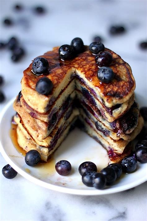 blueberry pancakes the blueberry pancakes of your dreams baker by nature