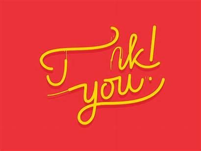 Thank Dribbble Animation Lettering Animated Thanks Presentation