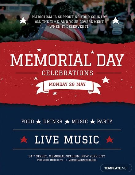 memorial day poster template psd templatenet