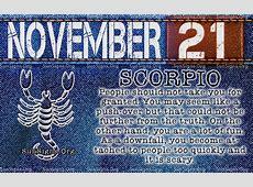 November 21 Zodiac Birthday Horoscope Personality