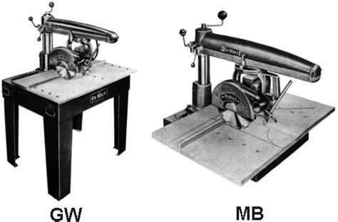 Dewalt Mb Gw Radial Arm Saw Instruction Part Manual