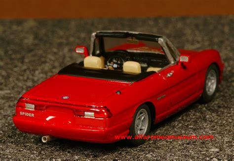 spider veloce iv  alfa romeo model car