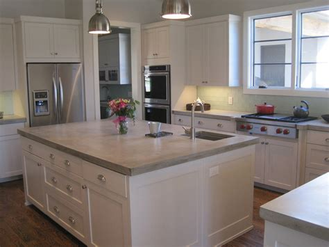 kitchen islands with granite tops concrete kitchen countertops angie 39 s list