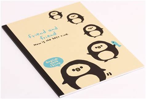 kawaii penguin fish animal notebook exercise book japan