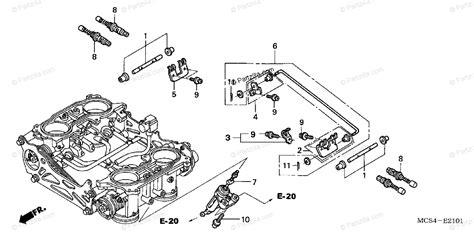 Honda Motorcycle Oem Parts Diagram For Throttle Body