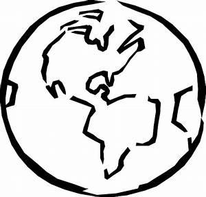 Globe Black And White Outline | Clipart Panda - Free ...