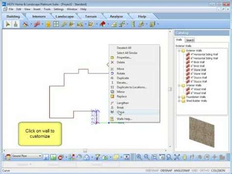 hgtv home design software creating  modifying walls