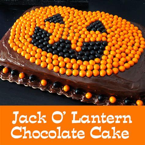 easy jack  lantern chocolate cake  sisters crafting