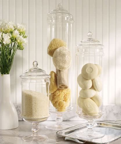 bathroom apothecary jar ideas apothecary jars filler ideas lori 39 s favorite things