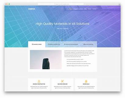 Website Template Complex Templates Construction Builder Industrial
