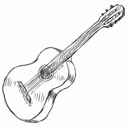 Guitar Acoustic Strings Choose Drawing Outline Sketch