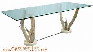 Table Plateau Verre Pied Bois : table basse plateau verre pied bois table basse 50 cm somum ~ Melissatoandfro.com Idées de Décoration