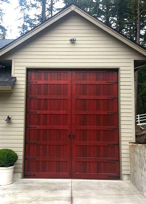 insulated garage door bi fold carriage doors 16 ft x 8 ft insulated wood