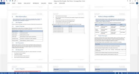 deployment plan template ms word templates forms