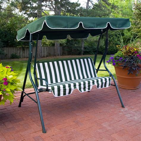 swing with canopy coral coast tortuga cay 2 person striped adjustable tilt