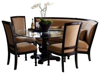 Curved Settee For Dining Table by Curved Dining Settee Pretty Fabulous Dining Table