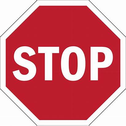 Stop Sign Road Sticker Mandatory Svg Reduced