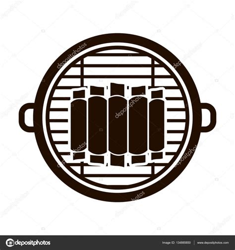 isolated grill  bbq ribs design stock vector