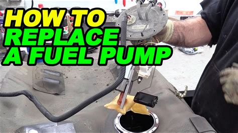replace  fuel pump youtube