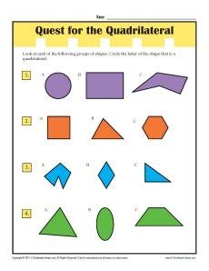 quadrilaterals practice worksheet worksheets for all