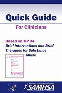 Brief Interventions And Brief Therapies For Substance