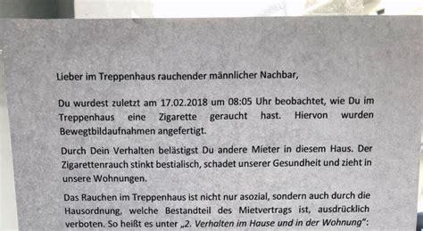 Rauchen Im Treppenhaus by Rauchen Im Treppenhaus Auf Frischer Tat Gefilmt Notes