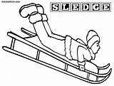 Sled Coloring Pages Sheet sketch template