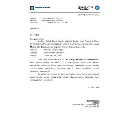 Contoh Surat Sponsor by Contoh Surat Pengantar Sponsorship Yang Baik Dan Benar