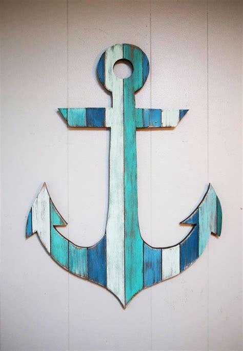 painted wood anchor  anchor bathroom anchors  beaches