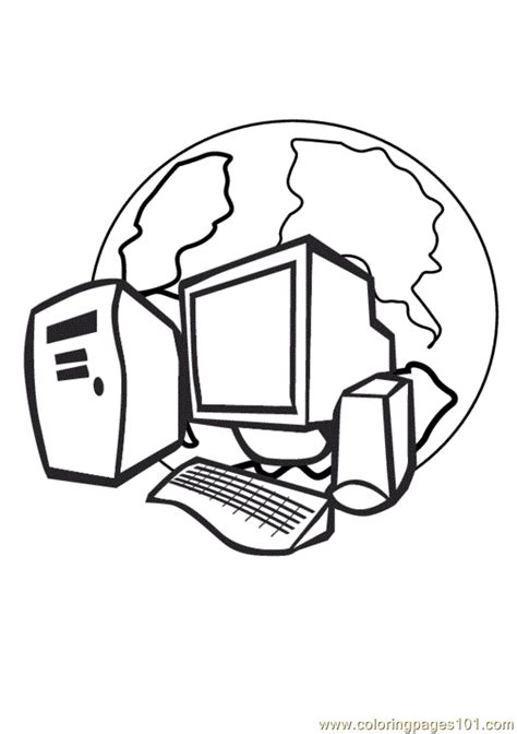 computer coloring page  computer coloring pages