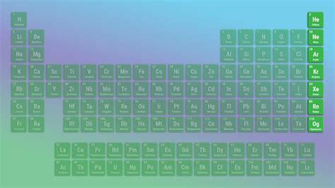 noble gases definition properties gas list element
