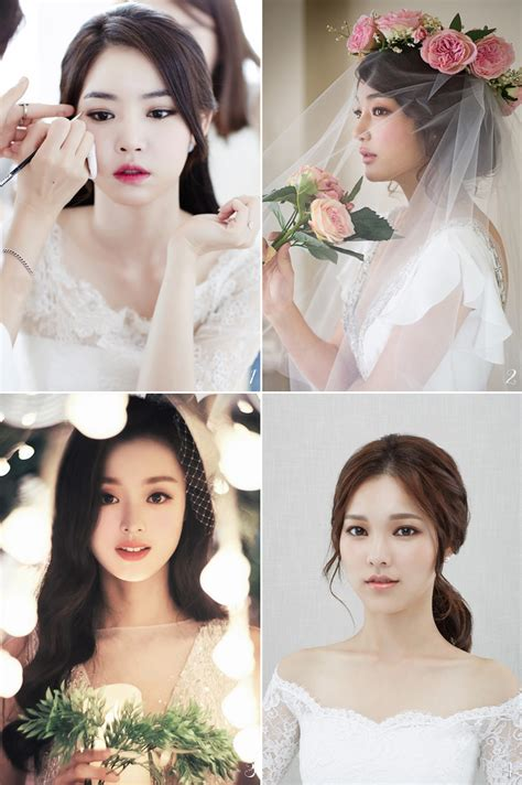 korean bridal hair makeup style trends
