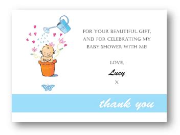 How To Write Thank You Cards For Baby Shower by How To Say Thank You For Baby Shower