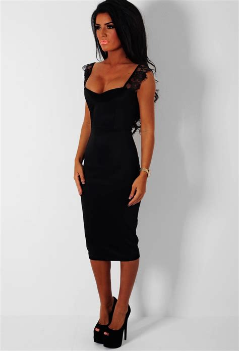 black midi dress picture collection dressed  girl