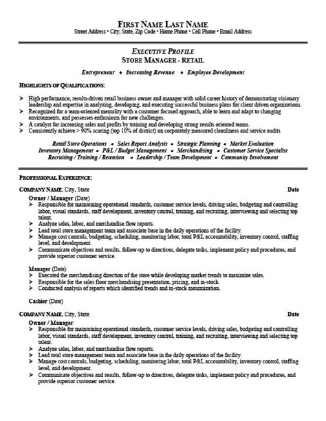 store manager or owner resume template premium resume