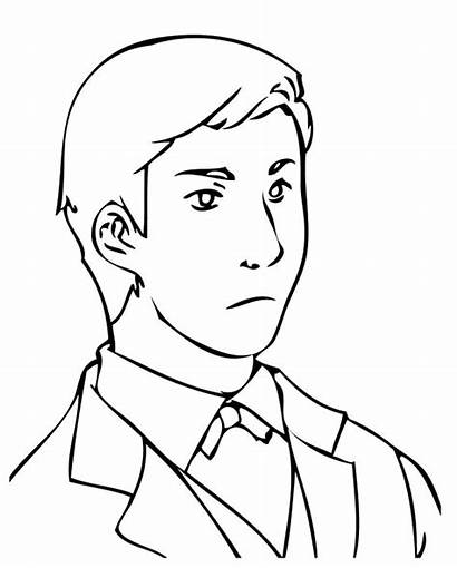 Coloring Pages Handsome Business Male Tuxedo Drawing