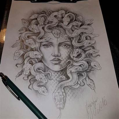Medusa Tattoo Tattoos Snake Drawing Shape Head