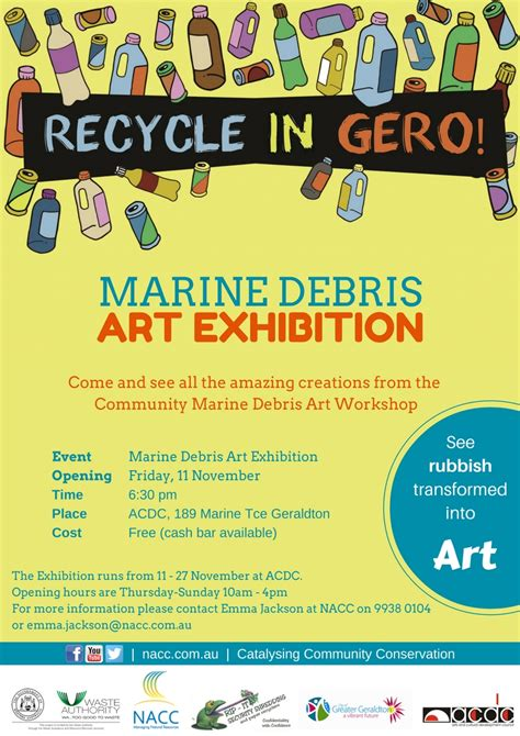 marine debris art exhibition opening nacc northern