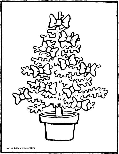 weihnachtsbaum mit schleifen kiddi kleurprentjes