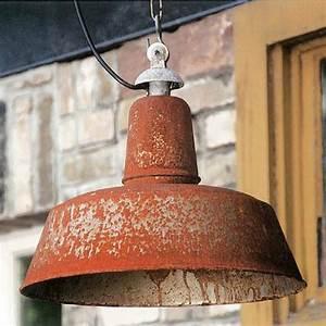Shabby Chic Lampen : shabby chic fabriklampe mit echter rost patina casa lumi ~ Orissabook.com Haus und Dekorationen