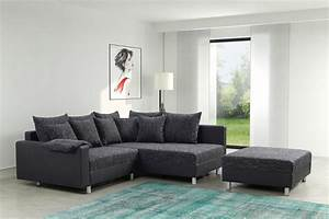 Eckcouch Mit Schlaffunktion Günstig : modernes sofa couch ecksofa eckcouch in schwarz eckcouch ~ Watch28wear.com Haus und Dekorationen