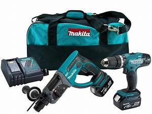 Makita Dlx2025m 18v 2 X 4 0ah Lxt Combi Sds Hammer Drill